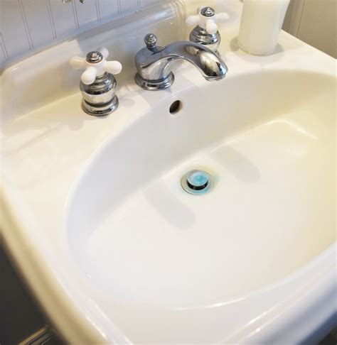 how to remove water stains from a porcelain sink