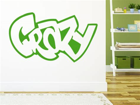 Wandtattoo Graffiti Schriftzug Crazy Wandtattoo Im