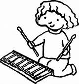 Xylophone Drawing Coloring Drawings Pages Clipartmag sketch template