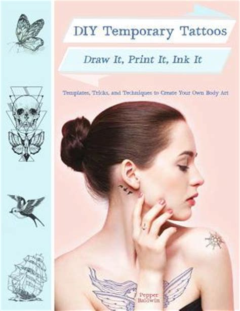 diy temporary tattoos draw  print  ink   pepper