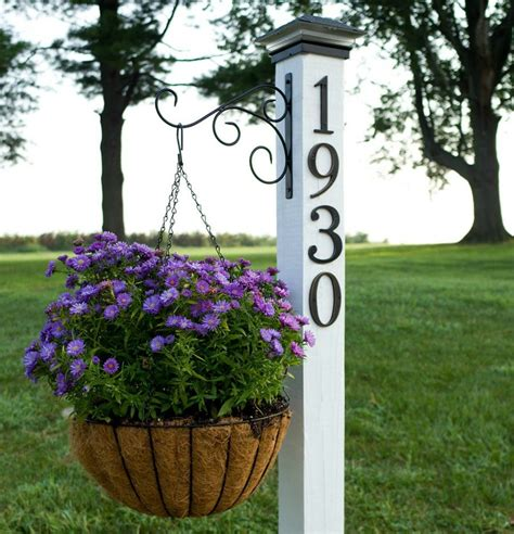 house number sign for l post 11 address sign ideas that 39 ll make neighbors stop in