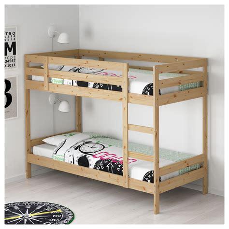 bunk bed mydal bunk bed frame pine 90x200 cm ikea