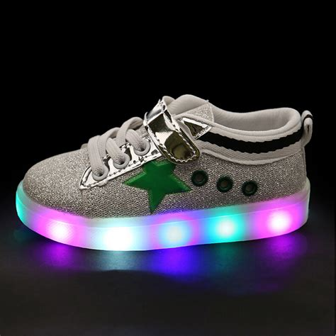 baby light up shoes children shoes led light up baby hook loop boys girls