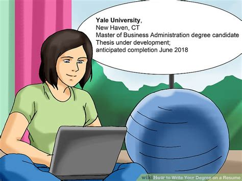 How To Write Degree On Resume by 3 Ways To Write Your Degree On A Resume Wikihow