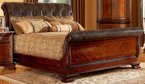 Gorgeous King Sleigh Bed With Beautiful Colors