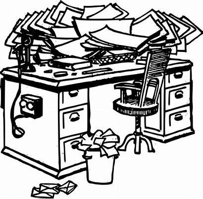 Messy Desk Clipart Sign Svg