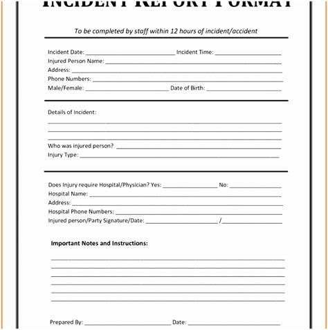 Vehicle Investigation Form Template by Vehicle Incident Report Form Vehicle Ideas