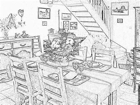 Dessin D Interieur De Maison Coloriage Interieur Maison Imprimer Maison Moderne