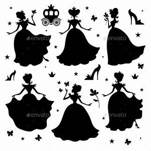 Little Princess Vector Silhouettes by MicrovOne | GraphicRiver