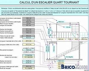 Calcul Escalier Quart Tournant : calcul des marches en angles dans 1 4 tournant ~ Dailycaller-alerts.com Idées de Décoration