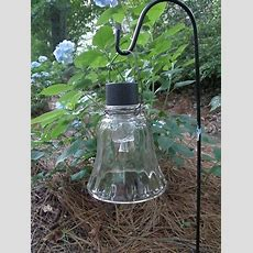 Old Glass Sconce Globe, A Cheap $1 Solar Light (stake