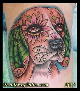 Pix For > Dia De Los Muertos Dog Tattoo | day of the dead ...