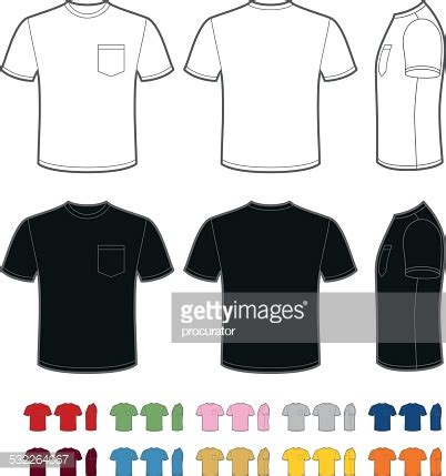Tshirt Template For Logo Pocket by Mens Tshirt With Pocket Vector Art Getty Images