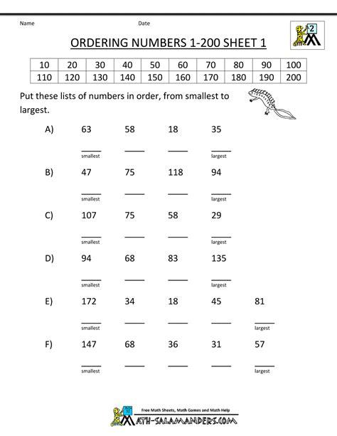 grade math practice ordering numbers   gif