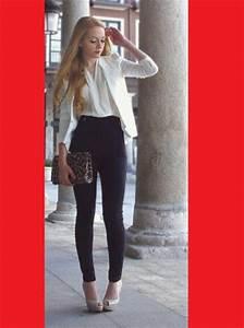 Pants skinny pants skinnys black fashion outfit look lookbook high waisted jeans black ...