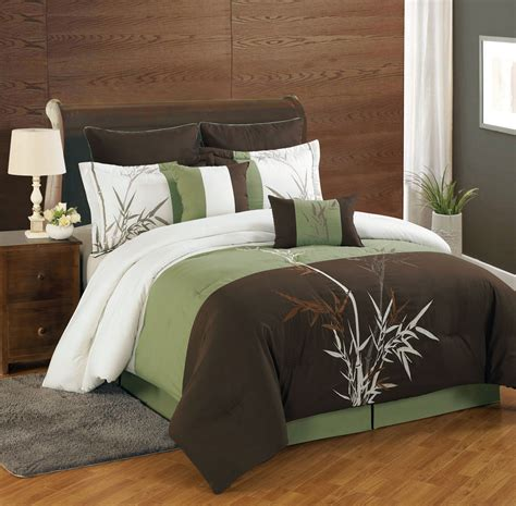 piece queen bamboo embroidered bed   bag set