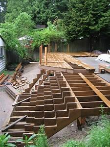 Framing Help For Inside Corner Stairs    - Decks  U0026 Fencing