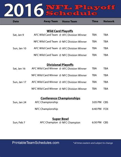 nfl playoff schedule lulys playoff schedule nfl