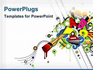 powerpoint template various colorful alphabets with white With power plugs powerpoint templates