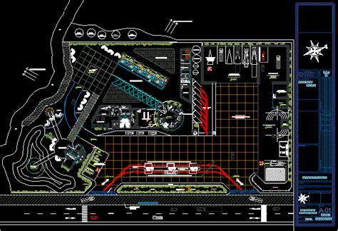 highway services tourism rest area  autocad cad