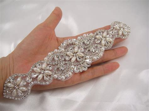 diamante applique rhinestone applique diamante applique pearl