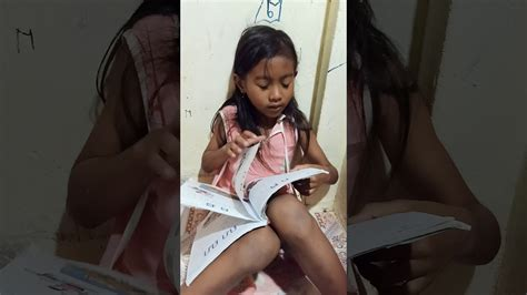 My Daughter Start To Read At The First Time Youtube
