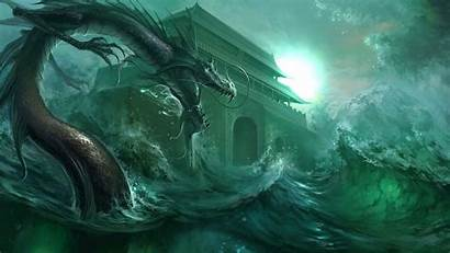 Dragon Water Wallpapers Chinese Sea Eastern Wind