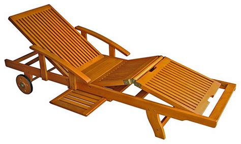 Wood Chaise Lounge, Balau Wood Vs Teak Balau Wood Large