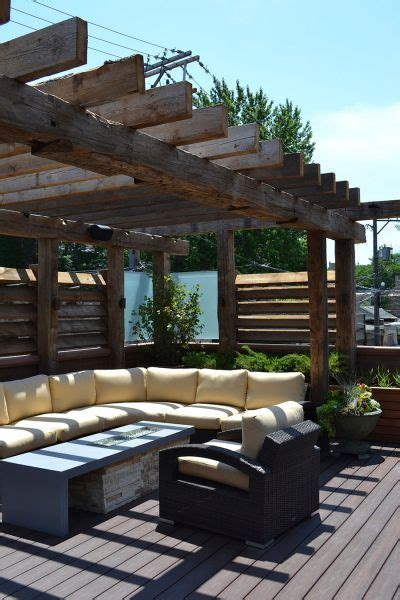 roof deck modern rustic retreat chicago roof deck