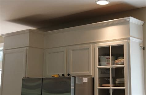 how to trim kitchen cabinets how to add height to your kitchen cabinets 7374