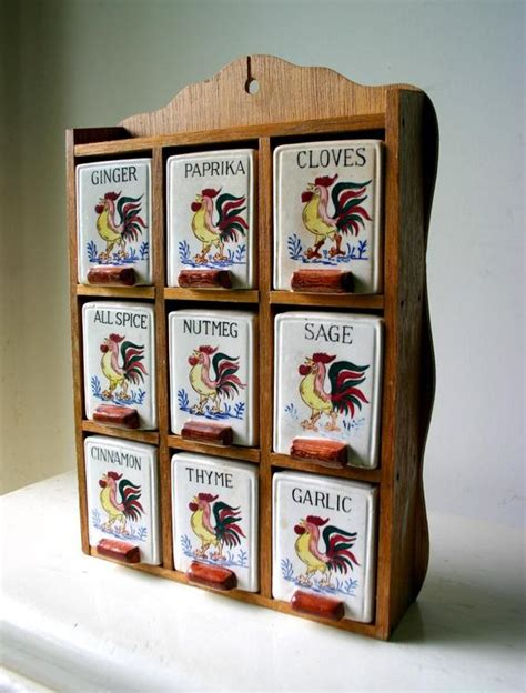 House Spice Rack by Farm House Rooster Spice Rack By Psychicceremonies On Etsy