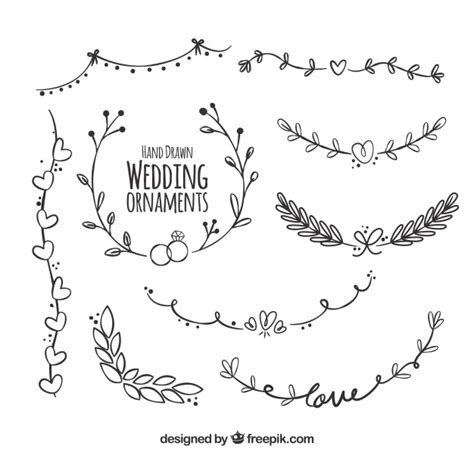 Font Decoration Wedding Decoration With Modern Style Vector Free Download