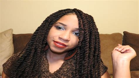 Two Strand Twist With Equal Cuban Twist Hair