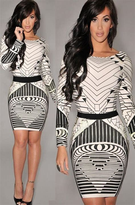 Summer dress 2015 new fashion slim mini 3d black and white dress kim kardashian sexyu0026club woman ...