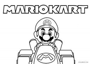 printable mario kart coloring pages  kids