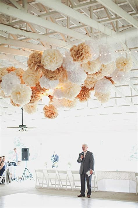 wedding ceremony decor 40 tissue paper poms by pomtree