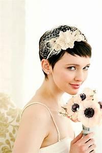 coiffure mariage cheveux court laissez vous inspirer With chambre bébé design avec couronne fleur cheveux mariage