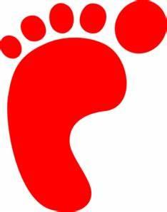 Red Footprint Clip Art at Clker.com - vector clip art ...