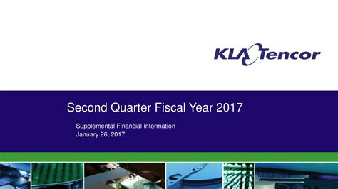 KLA-Tencor Corporation 2017 Q2 - Results - Earnings Call ...
