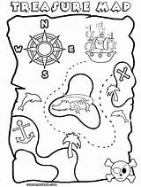 Coloring Treasure Pirate Map Pages Printable Maps Clipart Template Sheet Google Popular Printables Library Templates Coloringhome Comments sketch template