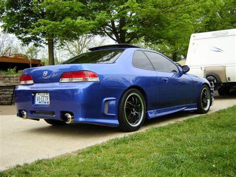 blue honda prelude sh with black wheels mmm cars