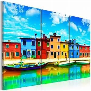 Tableau Deco Maison : tableau maison couleurs pres port 120 x 80 cm agen lot et garonne ~ Teatrodelosmanantiales.com Idées de Décoration