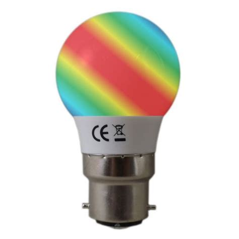 colour changing bc b22 golfball led light bulb
