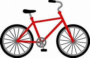 Red Bicycle Design - Free Clip Art
