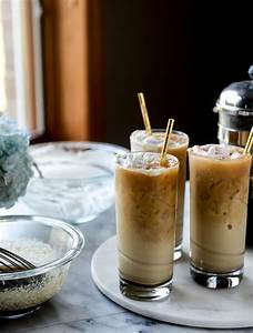 Iced Whiskey Coffees with Whiskey Syrup and Whipped Cream ...