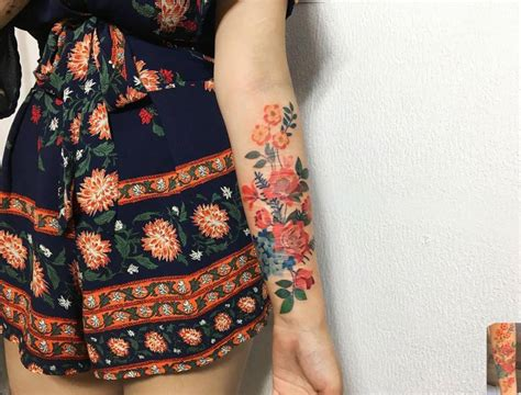 Wrist Tattoos Cover Scars scar cover flowers    forearm 1000 x 760 · jpeg