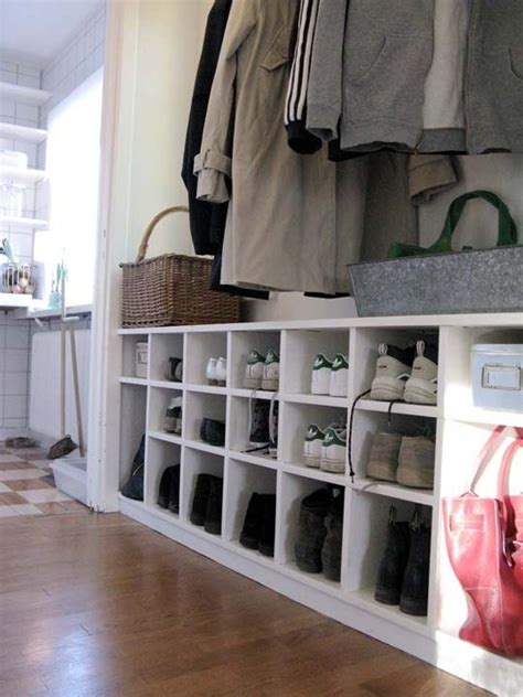 shoe and coat storage ideas 75 clever hallway storage ideas digsdigs