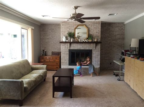 Remodel Brick Fireplace Ideas by Walking With Dancers The Family Room S Fireplace Update
