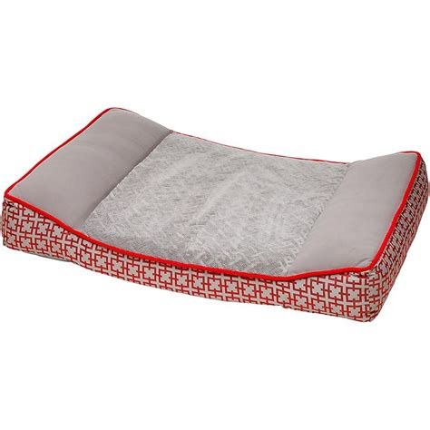 petco orthopedic red gray dog bed dogs pinterest