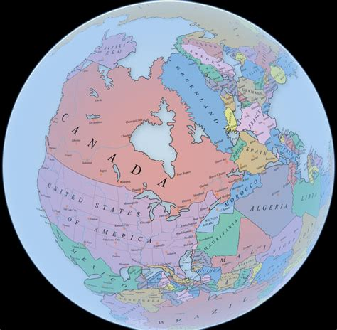 Interactive Pangea map with international borders - Vivid Maps
